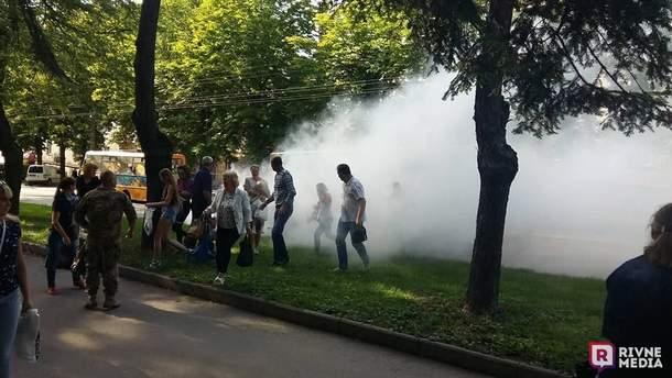 В Ровно во время движения загорелась маршрутка