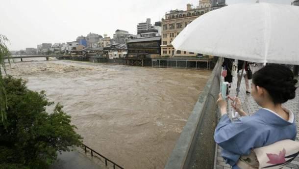 Наслідки сильних дощів в Японії