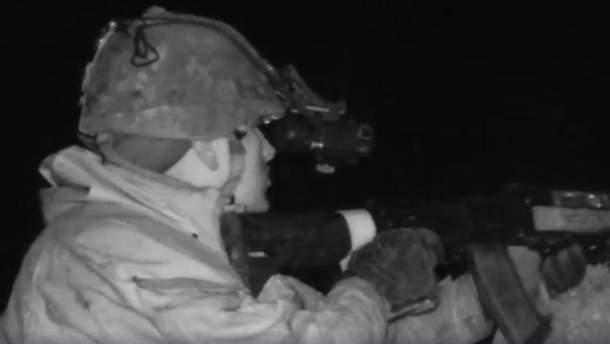Украинский снайпер на Донбассе