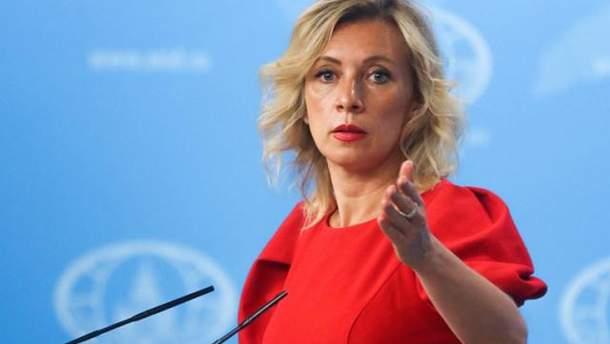 Захарова прокоментувала слова Порошенка про українські прапори в Криму