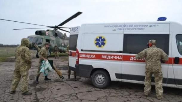 В Днепре эвакуировали тяжелораненого бойца