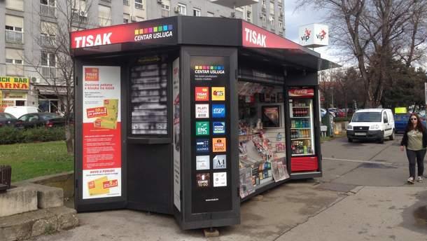 В Украине запрещают киоски на тротуарах