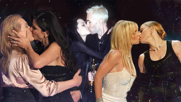 Найскандальніші поцілунки зірок в історії шоу-бізу