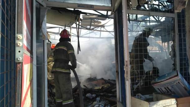 В Славянске на рынке произошел пожар