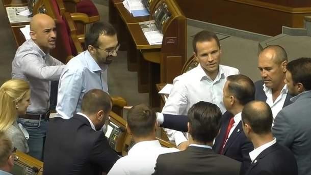 Ляшко, Лещенко и Найем скандалили в Раде