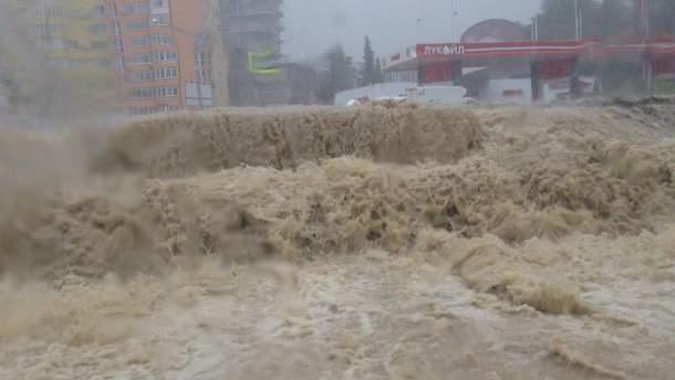 Сочи затопило перед матчем сборной России