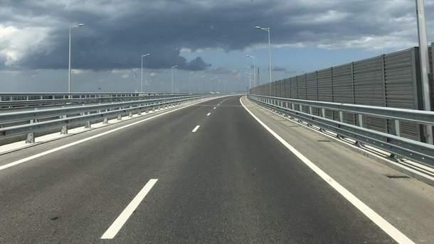 Крымский мост внезапно опустел