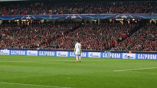 """Реклама """"Газпрома"""" и в дальнейшем будет на стадионах во время матчей Лиги Чемпионов"""