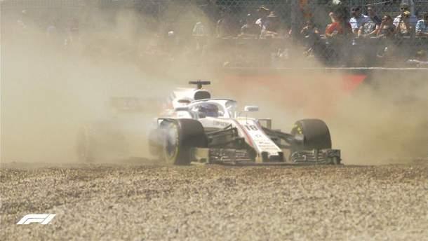 Авария на Формула-1