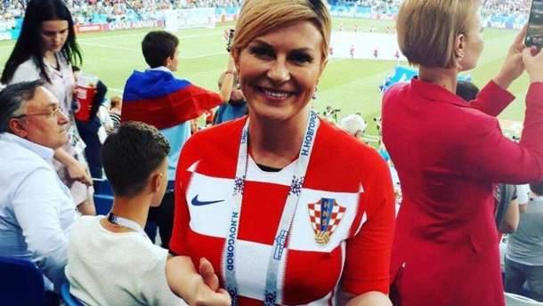 Президент Хорватії танцювала разом з гравцями в роздягальні