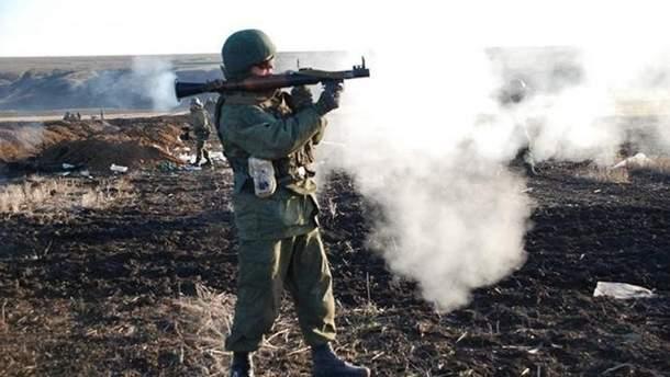 Обстрел позиций пророссийских боевиков