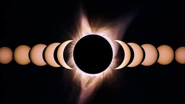 Солнечное затмение 13 июля 2018 (Иллюстрация)