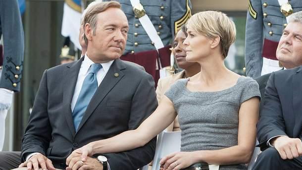 """Кевін Спейсі і Робін Райт в серіалі """"Картковий будинок"""""""