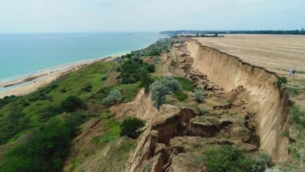 У Лиманському районі на Одещині – масштабні зсуви грунту