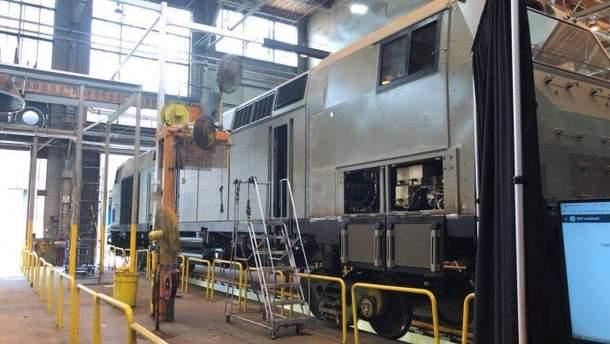 Производство поезда в США