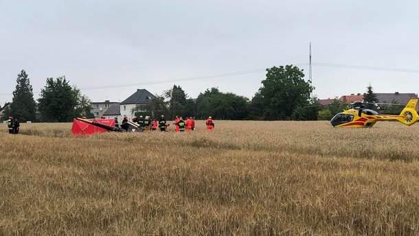 В Польше разбился частный вертолет
