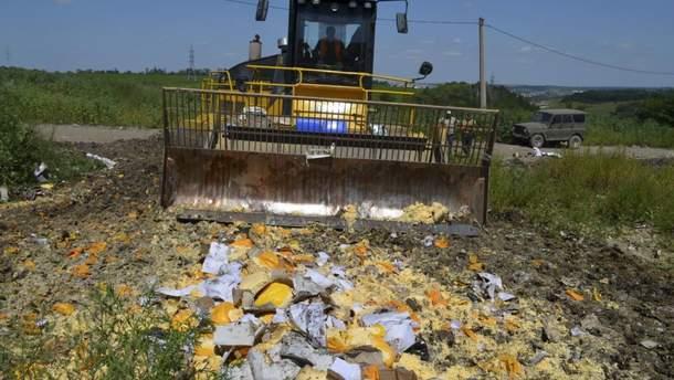 За три роки у Росії знищили понад 25 тисяч тонн санкційних продуктів
