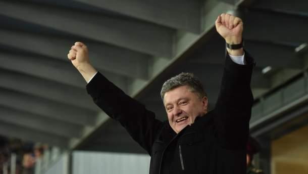 Порошенко поддержал хорватов перед решающим матчем