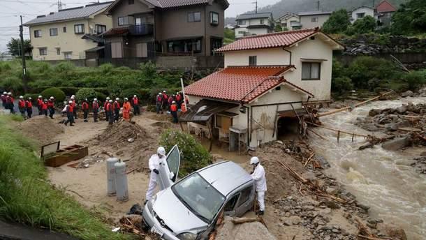 Количество жертв наводнения в Японии возросло до 199