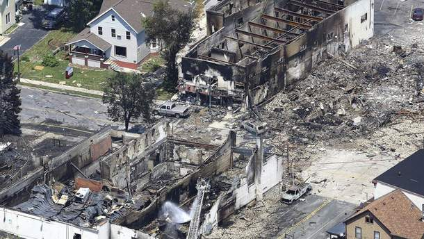 В штате Висконсин произошел взрыв природного газа