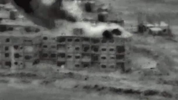 Опубликовано видео авиаударов Израиля