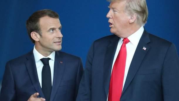 Макрон підтвердив, що Трамп не мав наміру виводити США з НАТО