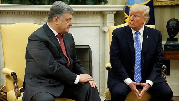Дональд Трамп і Петро Порошенко