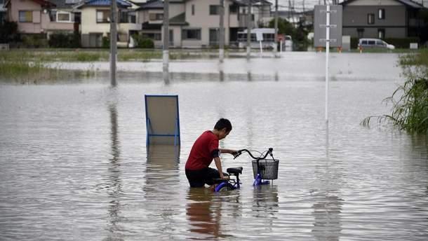 Мощные ливни в Японии