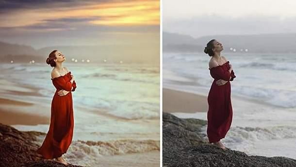 Снимки до и после Photoshop