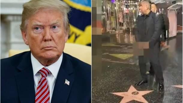"""Джордж Лопес """"помочился"""" на звезду Трампа в Голливуде"""