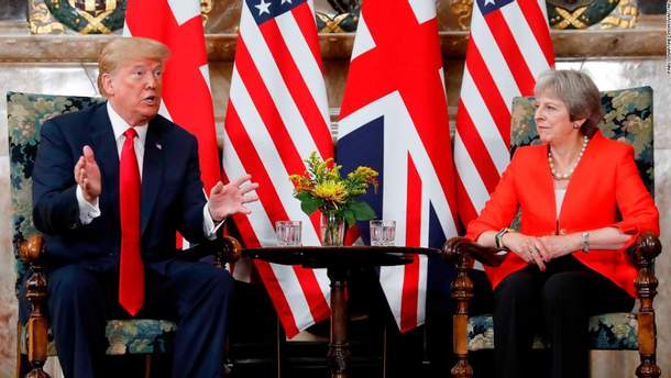 Дональд Трамп находится с первым официальным визитом в Великобритании