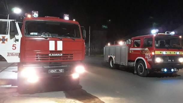 В Дубно Ровенской области произошел пожар в памятнике архитектуры Луцкие ворота