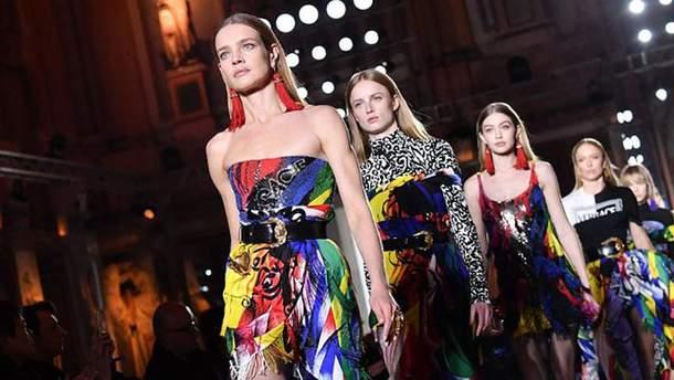 Показ коллекции Versace