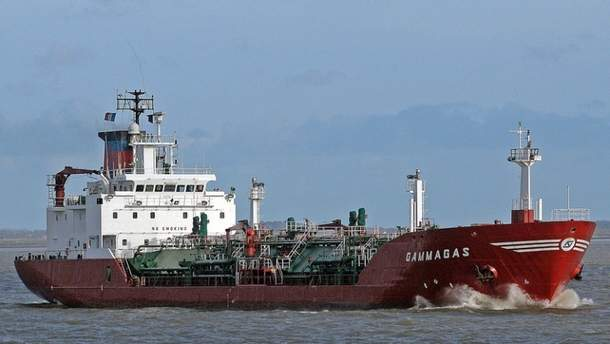 Судно доставило в порт 2150 тонн сжиженного газа