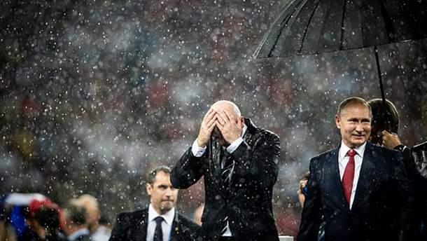 Хитрий Путін і його парасолька
