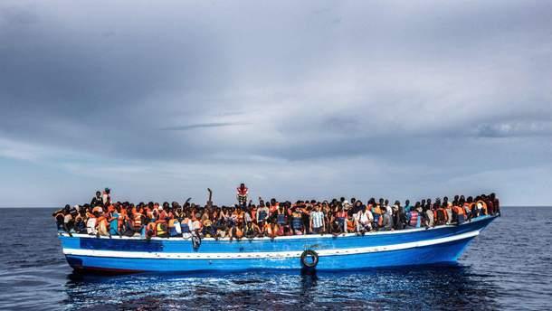 Біженці у Середземному морі