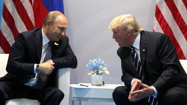 Первая двусторонняя встреча Путина и Трампа
