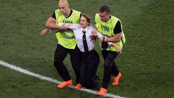 Вероника Никульшина во время матча
