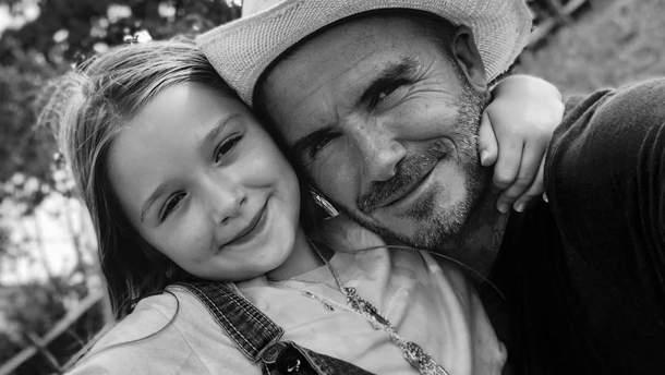 Дэвид Бекхэм и дочь Харпер