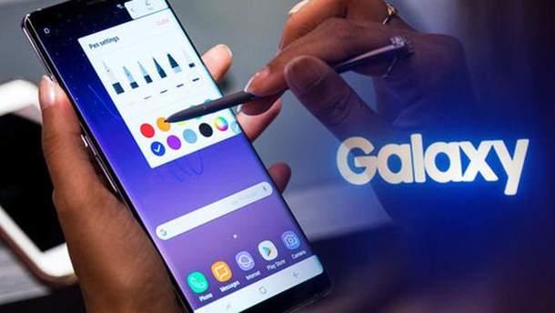 Смартфон Samsung Galaxy Note 9 показали на видео