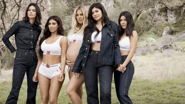 Сестри Кардашян-Дженнер для Calvin Klein