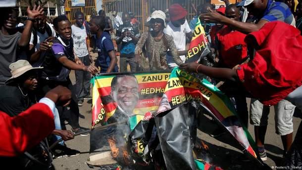 В Зимбабве после выборов начались массовые беспорядки
