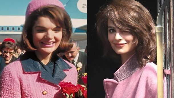 Джеки Кеннеди (слева), Эмили Ратаковски (справа)
