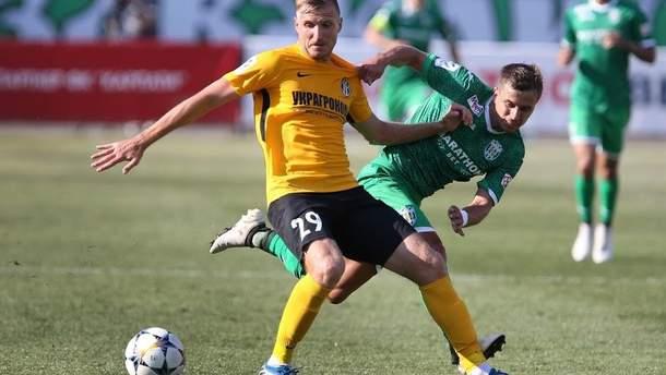 """Андрей Бацула (в желтой футболке) перебрался в """"Кортрейк"""""""