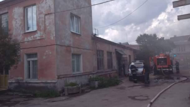 Сервисный центр сгорел во Львове