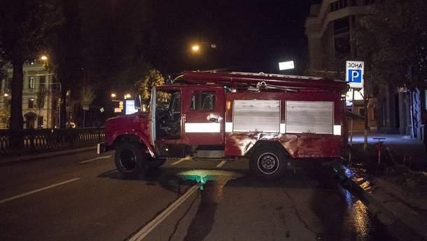 В Киеве горело здание бывшего отеля