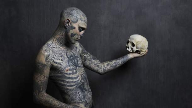 Умер Зомби Бой (Zombie Boy): фото Рика Дженеста с и без тату