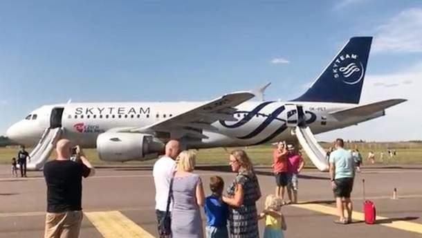 У Гельсінкі загорівся пасажирський літак