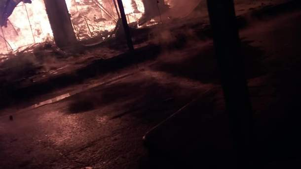 В Коблево произошел масштабный пожар