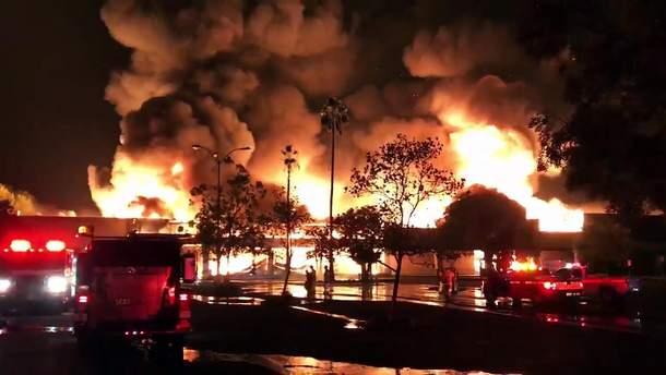 Масштабный пожар в Калифорнии